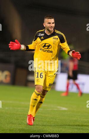 Lyon, France. 2nd Nov, 2013. Anthony Lopes (Lyon) Football / Soccer : French 'Ligue 1' match between Lyon 2-0 EA - Stock Photo