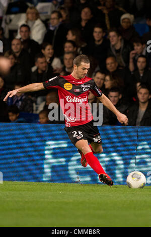 Lyon, France. 2nd Nov, 2013. Reynald Lemaitre (Guingamp) Football / Soccer : French 'Ligue 1' match between Lyon - Stock Photo