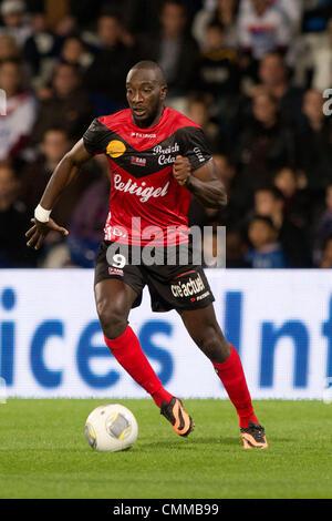 Lyon, France. 2nd Nov, 2013. Mustapha Yatabare (Guingamp) Football / Soccer : French 'Ligue 1' match between Lyon - Stock Photo