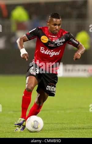 Lyon, France. 2nd Nov, 2013. Christophe Mandanne (Guingamp) Football / Soccer : French 'Ligue 1' match between Lyon - Stock Photo
