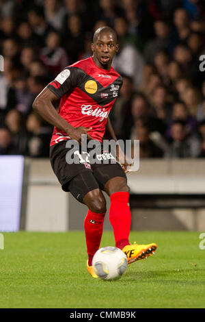Lyon, France. 2nd Nov, 2013. Younousse Sankhare (Guingamp) Football / Soccer : French 'Ligue 1' match between Lyon - Stock Photo