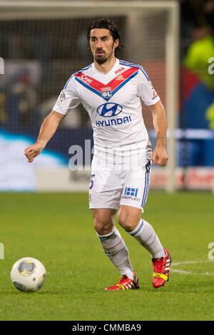 Lyon, France. 2nd Nov, 2013. Milan Bisevac (Lyon) Football / Soccer : French 'Ligue 1' match between Lyon 2-0 EA - Stock Photo