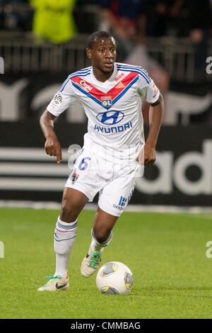 Lyon, France. 2nd Nov, 2013. Gueida Fofana (Lyon) Football / Soccer : French 'Ligue 1' match between Lyon 2-0 EA - Stock Photo