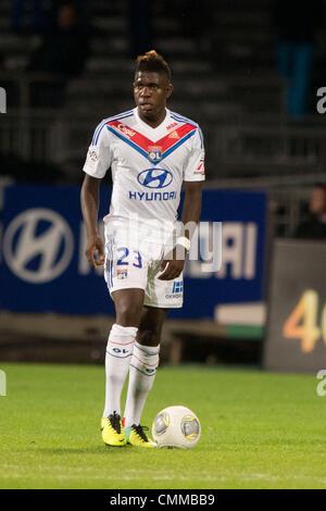 Lyon, France. 2nd Nov, 2013. Samuel Umtiti (Lyon) Football / Soccer : French 'Ligue 1' match between Lyon 2-0 EA - Stock Photo
