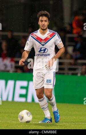 Lyon, France. 2nd Nov, 2013. Clement Grenier (Lyon) Football / Soccer : French 'Ligue 1' match between Lyon 2-0 - Stock Photo