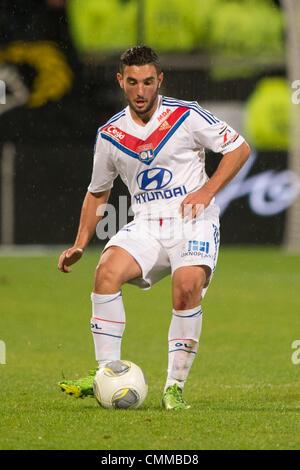 Lyon, France. 2nd Nov, 2013. Jordan Ferri (Lyon) Football / Soccer : French 'Ligue 1' match between Lyon 2-0 EA - Stock Photo