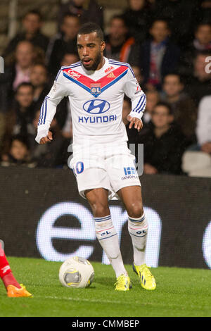 Lyon, France. 2nd Nov, 2013. Alexandre Lacazette (Lyon) Football / Soccer : French 'Ligue 1' match between Lyon - Stock Photo