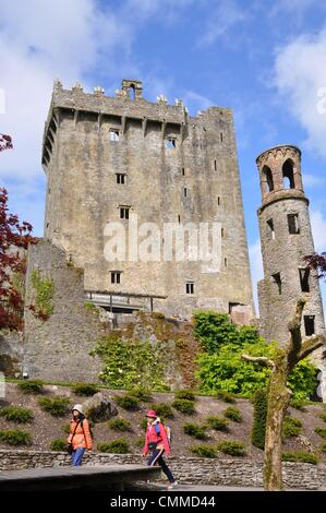 Blarney Castle is a medieval stronghold situated about eight kilometres northwest of Cork, photo taken May 26, 2013. - Stock Photo