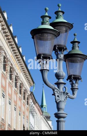 Ornate street lamp, Copenhagen, Denmark, Scandinavia, Europe - Stock Photo