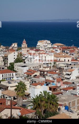 View over town, Zakynthos Town, Zakynthos, Ionian Islands, Greek Islands, Greece, Europe - Stock Photo