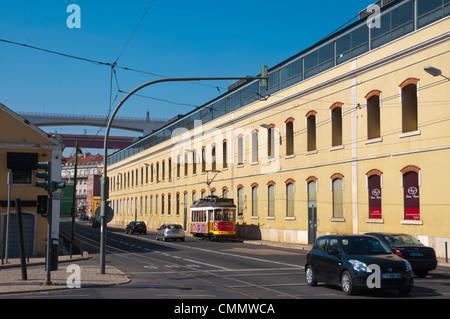 Avenida 24 de Julho street Alcantara district Lisbon Portugal Europe - Stock Photo
