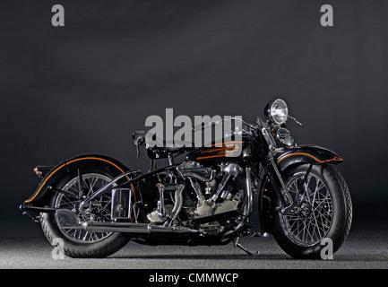 1937 Harley Davidson ELS Knucklehead - Stock Photo