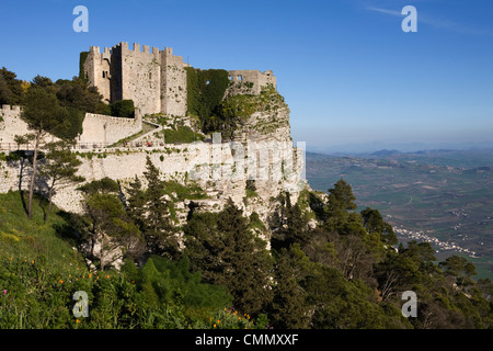 Castello di Venere, Erice, Sicily, Italy, Europe - Stock Photo
