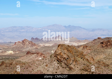 Mountains of Southwestern Arizona, near the town of Oatman as seen from Historic Route 66. - Stock Photo