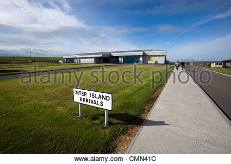 Kirkwall Airport, Orkney Islands, Scotland UK - Stock Photo