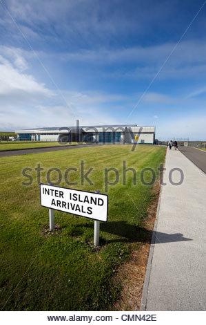 Kirkwall Airport, Orkney Islands, Scotland UK - Stock Photo