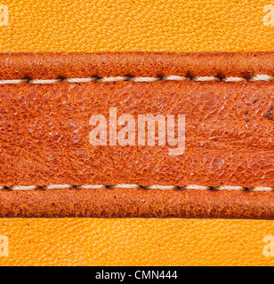 A brown leather texture. high resolution. - Stock Photo