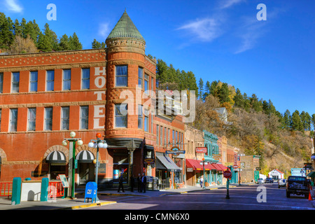 SD, Deadwood, Main Street, Historic Gold Mining town, now a gambling mecca - Stock Photo