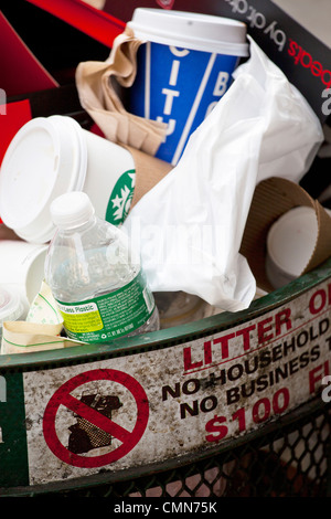 trash can, New York - Stock Photo