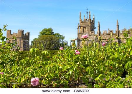 Garden at Sudeley Castle, Winchcombe, Gloucestershire, England. - Stock Photo