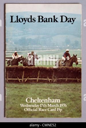 Cheltenham Festival race card 1976 - Stock Photo