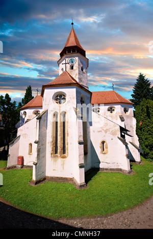 Prejmer ( German: Tartlau) Fortified Saxon Church,  Brasov, Transylvania. UNESCO World Heritage Site - Stock Photo