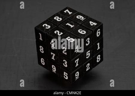 Mathematical Rubik's cube. - Stock Photo