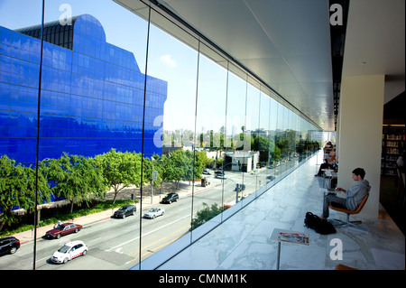 View of Pacific Design Center  from West Hollywood Public Library - Stock Photo