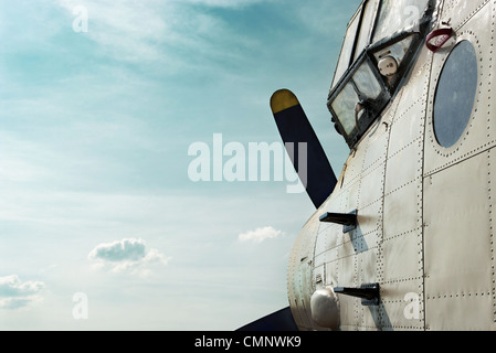 Old airplane side view - Stock Photo