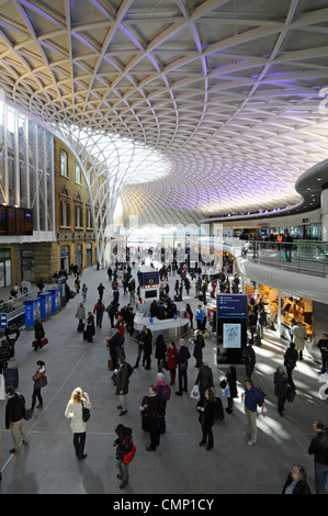 Kings cross railway station departure boards and passenger seating stock photo royalty free - Kings cross ticket office opening times ...