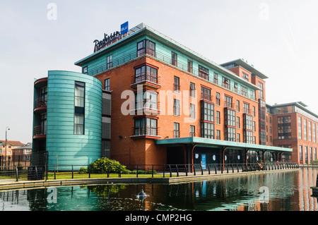 Radisson Blu Hotel, Belfast Gasworks - Stock Photo