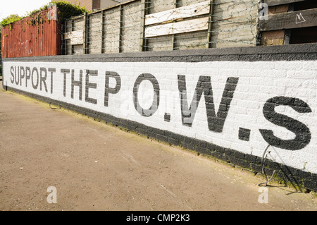 Mural for Irish Republican Political Prisoners - Stock Photo