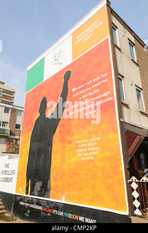 Mural for Irish Republican Political Prisoners in HMP Maghaberry. - Stock Photo