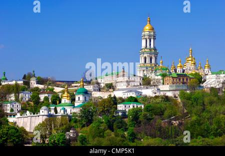 Kievo-pecherskaya lavra - Kiev pechersk lavra - Cave monastery golden cupola in Kiev Ukraine 2007. - Stock Photo