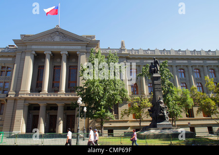 Santiago Chile Compania de Jesus Tribunales de Justicia Corte Suprema Supreme Court building highest court law judicial - Stock Photo