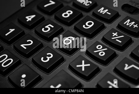 The big black calculator - keypad background close- up - Stock Photo