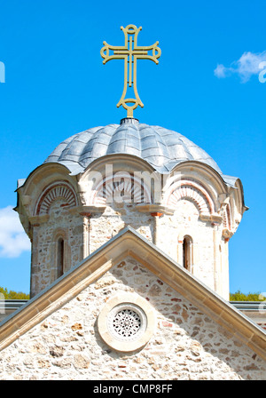 Cross on the top of old church  - Stock Photo