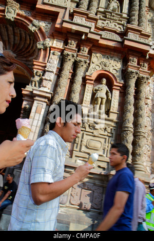 Peru, Lima, Jiron de la Union, historic district, Iglesia de la Merced, Our Lady of Mercy, Basilica, Catholic, church, - Stock Photo