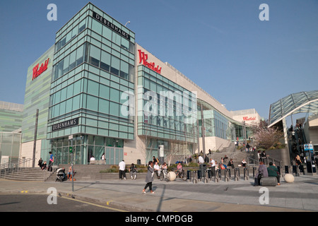 The Westfield London Shopping Centre in Shepherds Bush in London. - Stock Photo
