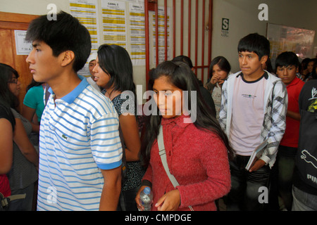 Peru Tacna Calle Hipólito Unanue CIMA Academia PreUniversitaria university preparatory school secondary education - Stock Photo