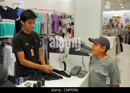Peru, Tacna, Calle San Martin, store, stores, businesses, district, men's clothing, clothes, Hispanic Hispanics - Stock Photo