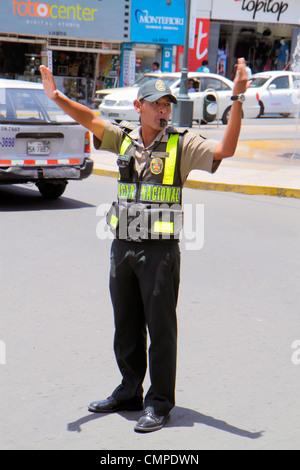 Peru, Tacna, Calle San Martin, street scene, Hispanic Hispanics Latin Latino Latinos ethnic ethnics immigrant immigrants - Stock Photo