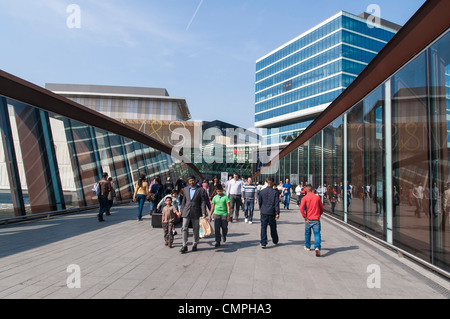 LONDON, UK – MARCH 24: Entrance to Westfields Shopping Centre, on March 24, 2012 in London. The shopping centre - Stock Photo
