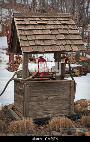 Old Wooden Hand Water Pump For Pumping Water Out Of Dug