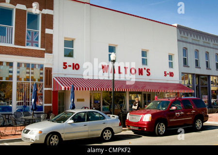The Walmart Visitor's Center in Bentonville, Arkansas is housed in Walton's 5&10 dime store. - Stock Photo