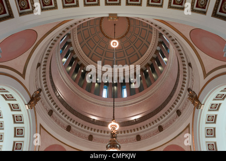 Ceiling of rotunda in Washington state capitol building in Olympia - Stock Photo