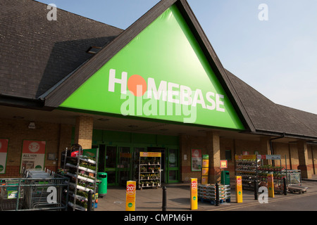 Homebase DIY store/shop, Staines, Surrey, England, UK - Stock Photo