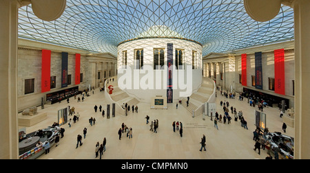 The Great Court of the British Museum, Bloomsbury, London, England, United Kingdom, Europe - Stock Photo