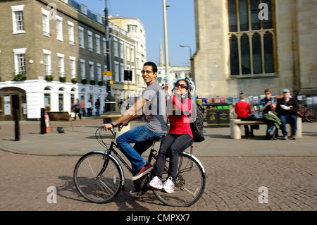 Cycling in Cambridge - Stock Photo