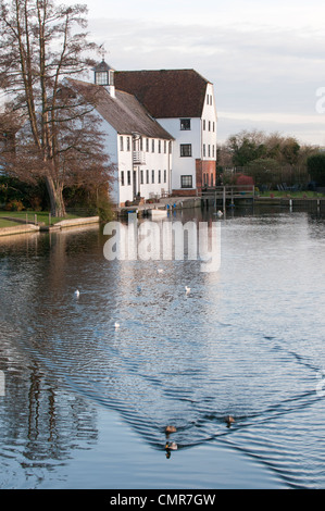 Hambleden water mill, near Henley on Thames, Oxfordshire, UK - Stock Photo